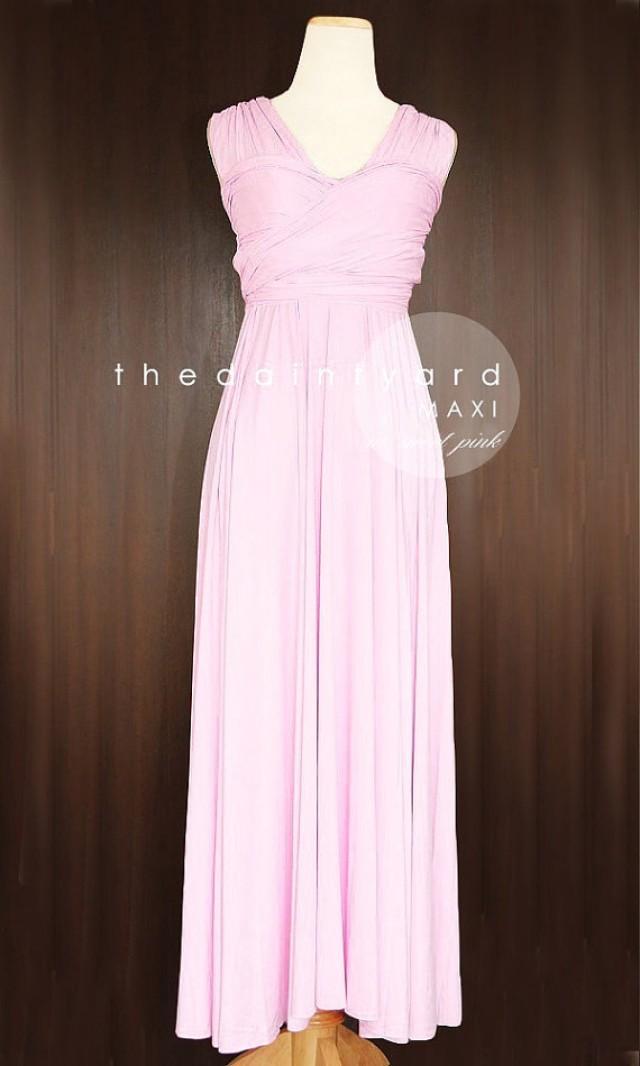 Maxi Sweet Pink Bridesmaid Convertible Dress Infinity