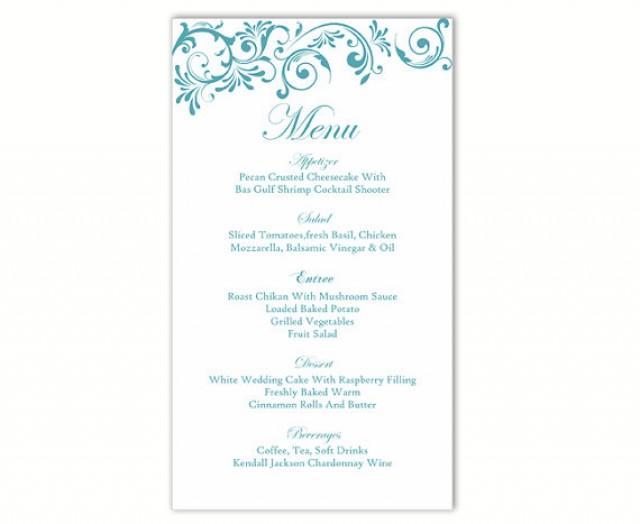 printable menu cards