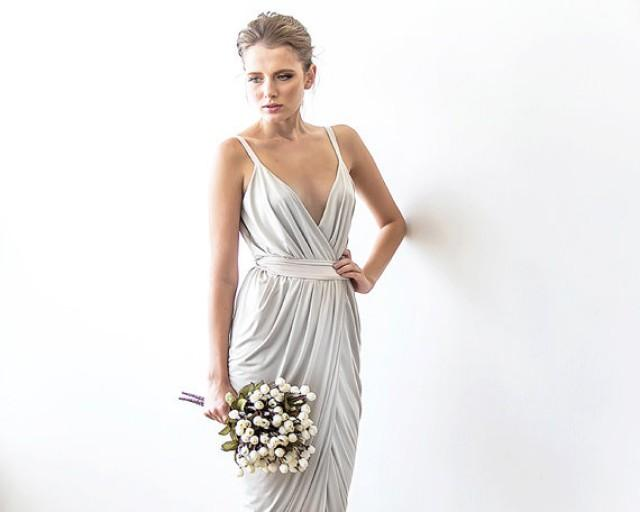 Wrap Maxi Ivory Dress With Straps, Tulip Wedding Gown, Maxi Tulip ...