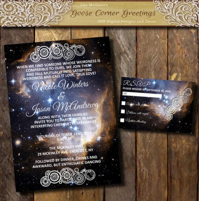 printable nebula galaxy wedding invitation suite space theme invitations digital kit wedding setgallifreyan symbol invitation rsvp 2385092 weddbook