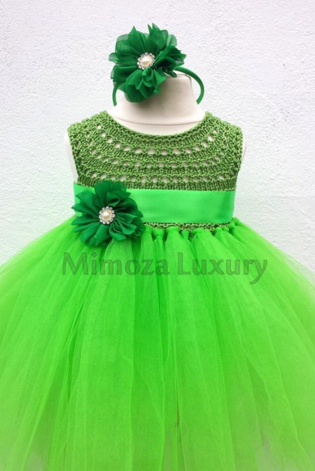 Green Fairy Flower Girl Dress Apple Green Tutu Dress