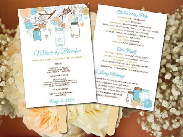 DIY Wedding Fan Program Template