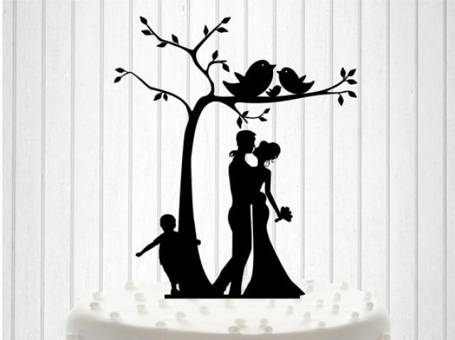 Knit Family Wedding Cake Topper Cake Decor Silhouette