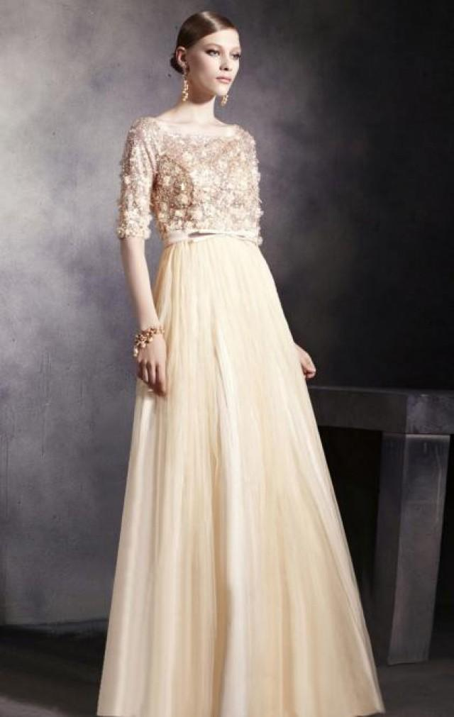 Floor Length Beige Evening Formal Dress 2389168 Weddbook