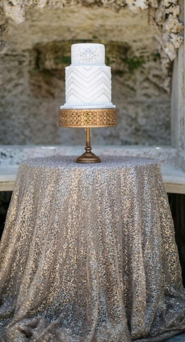 Fabric Swatch Champagne Sequin Cloth Sample TableCloth Wholesale Sequin Table  Cloths Sparkly Champagne Table Sequin Linens #2389501   Weddbook