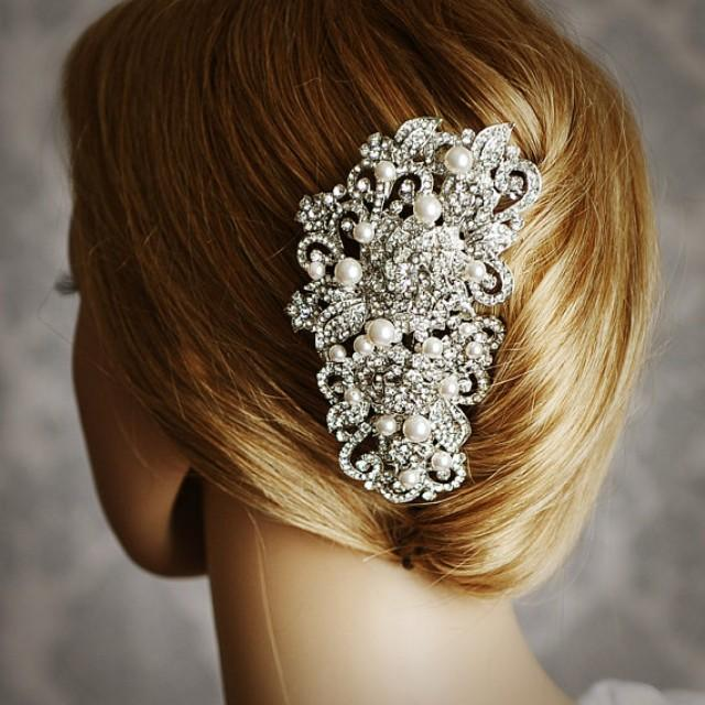 Angelique Victorian Pearl And Rhinestone Bridal Hair Comb Vintage Style Wedding Hair Accessories Crystal Flower Wedding Bridal Hair Comb 2389783 Weddbook