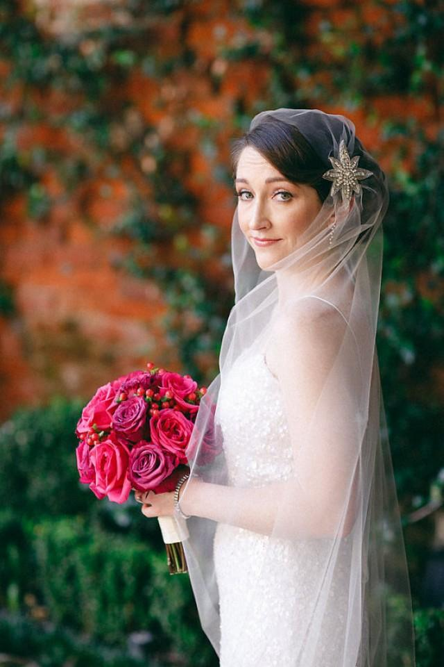 Vintage Style Wedding Veil Art Deco Juliet Cap Inspired Tulle Made To Order Carolyn As Seen In Me Pretty 2389930 Weddbook