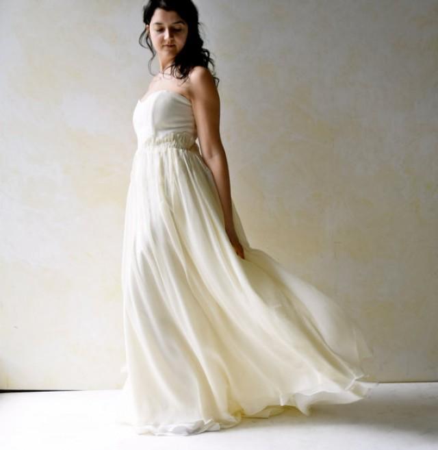 Fairy wedding dress strapless wedding dress wedding gown for Where to buy boho wedding dresses