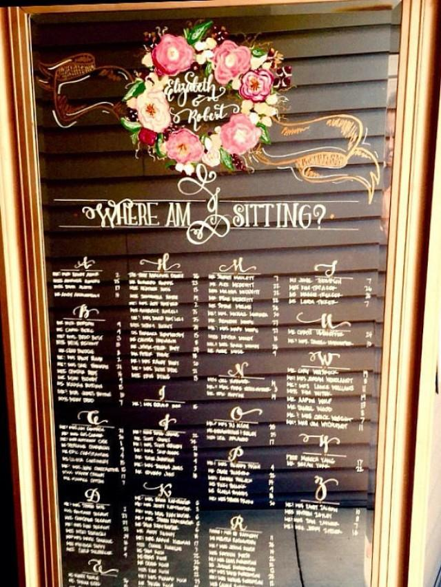Wedding Mirror Seating Chart Leaning Floor Mirror