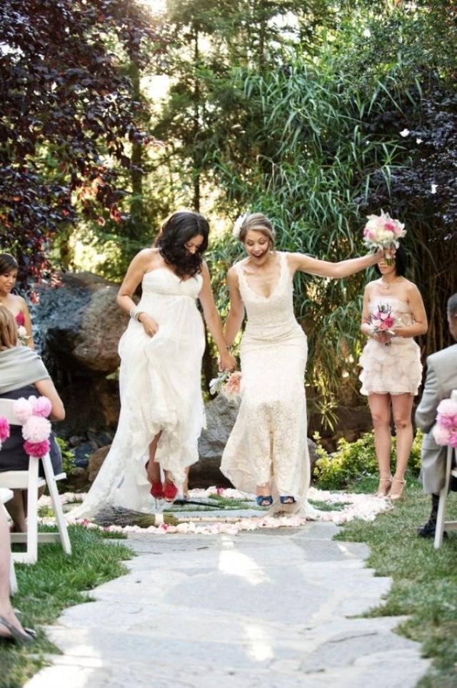 Wedding Traditions Explained Jumping The Broom 2393844 Weddbook