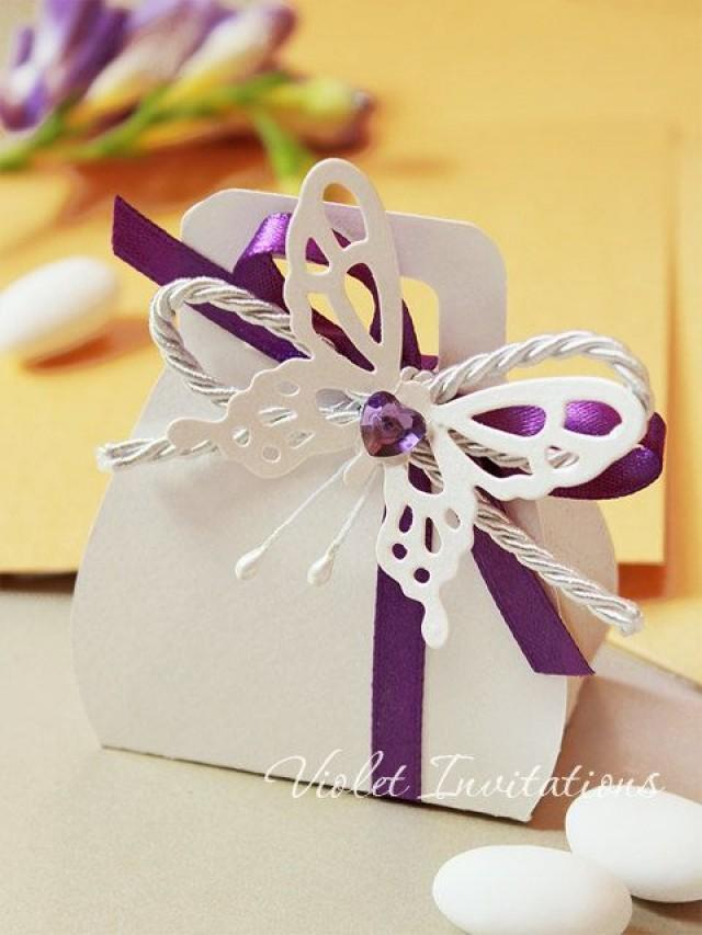 Butterfly Bomboniere Set Of 5, Wedding Favor Gift Box Filled With ...