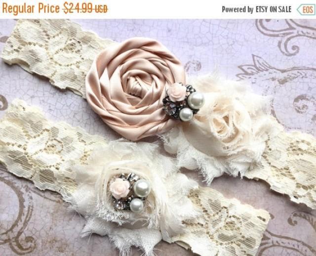 Bridal Garter Wedding Blush Set Ivory 2395084