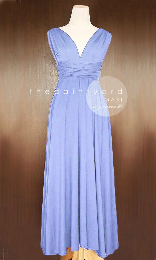 Maxi Periwinkle Bridesmaid Dress Convertible Dress Infinity Dress