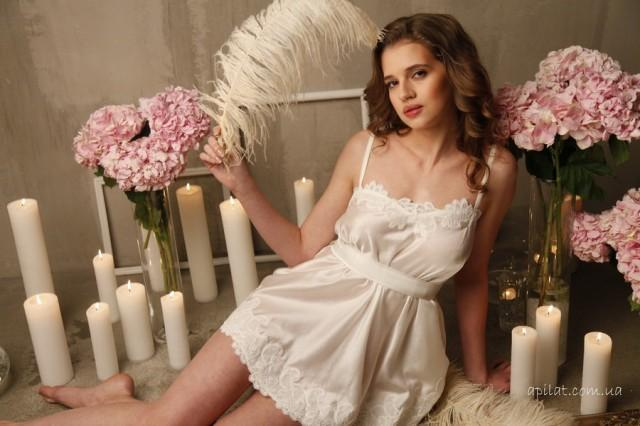 Bridal Camisole With Lace F8(Lingerie, Nightdress), Ivory