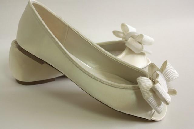 Ivory Wedding Shoes Flats