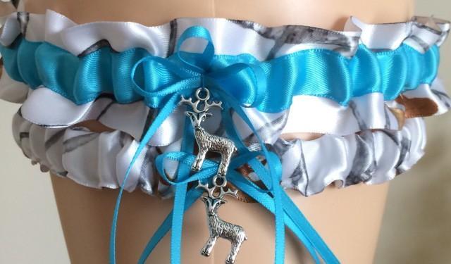 Snowfall wedding garter set Wedding garter set White snowfall garter set