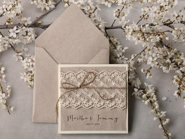 rustic wedding invitations 20 wedding invitation suite lace wedding invitation pocket fold. Black Bedroom Furniture Sets. Home Design Ideas