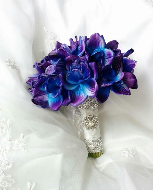 Diy Bouquet Wedding Artificial Flowers Bridesmaid