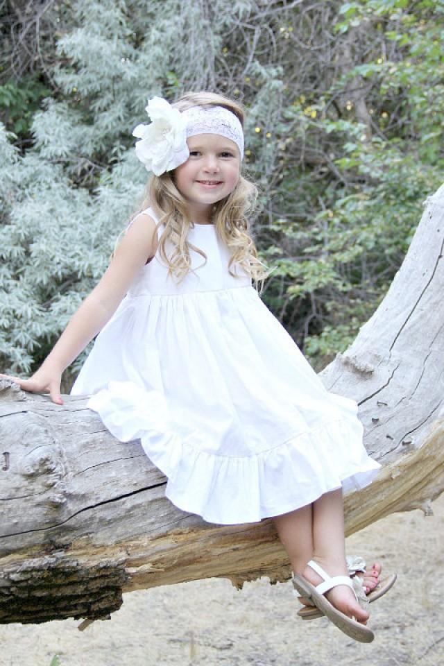 8ab920df81a7 Girls White Dress