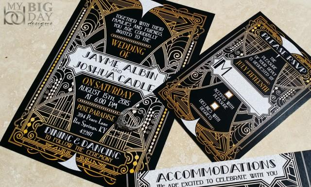 Great Wedding Invites: NEW! The Glittering Gatsby Ball Wedding Invitations, Great
