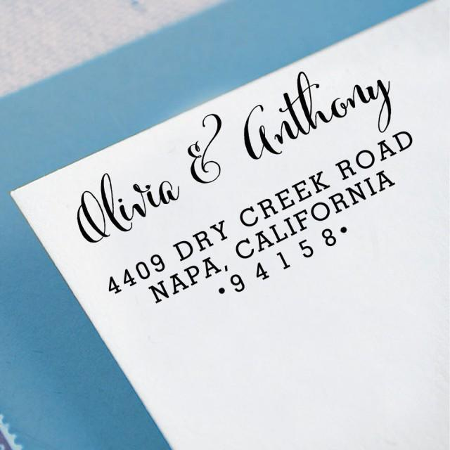 Custom Return Address Stamp Self