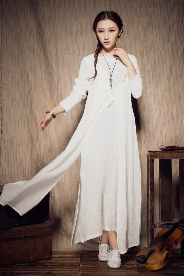 Best 28 white dress linen dress prom white linen for Cloth for wedding dresses