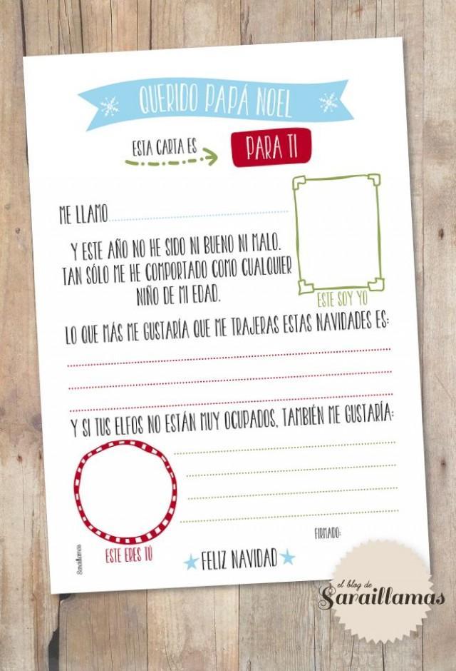 Blog Image De Noel.Carta A Papa Noel Para Descargar El Blog De Sarai Llamas