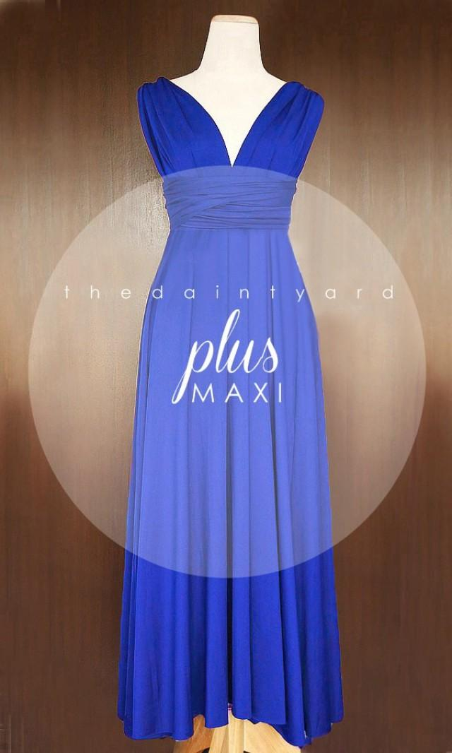 MAXI Plus Size Cobalt Blue Bridesmaid Dress Convertible ...