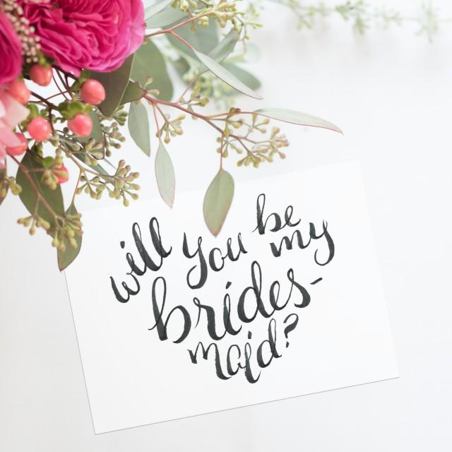 It's just a photo of Sly Will You Be My Bridesmaid Cards Printable