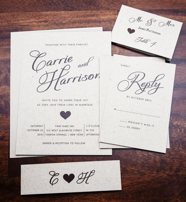Simple Wedding Invitations: Rustic Wedding Invitation, Wedding Invitations, Elegant