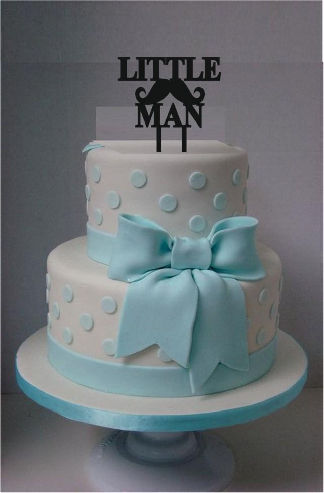 Little Man Cake Topper Acrylic Laser Cut Cake Topper Baby Shower