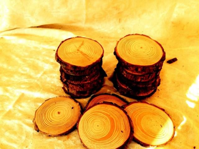 FLASH SALE 55 Pieces 4 Inch White Pine Rounds For 25 Dollars