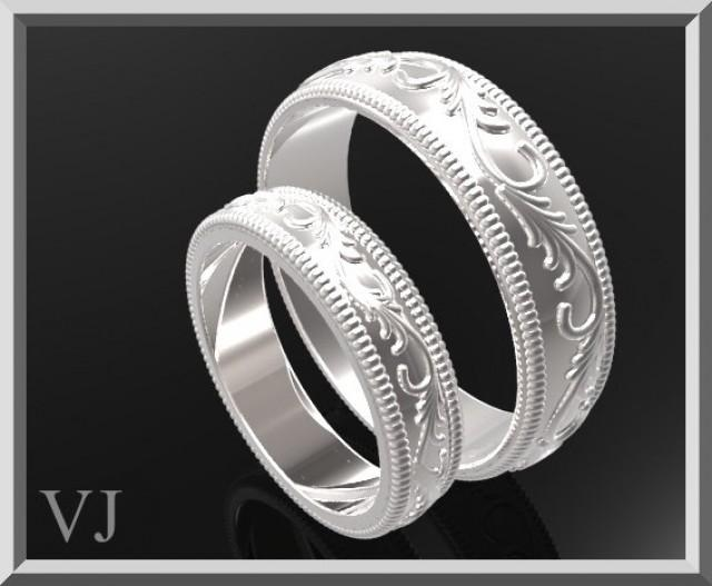 Matching Wedding Band,His And Hers Silver Matching Wedding