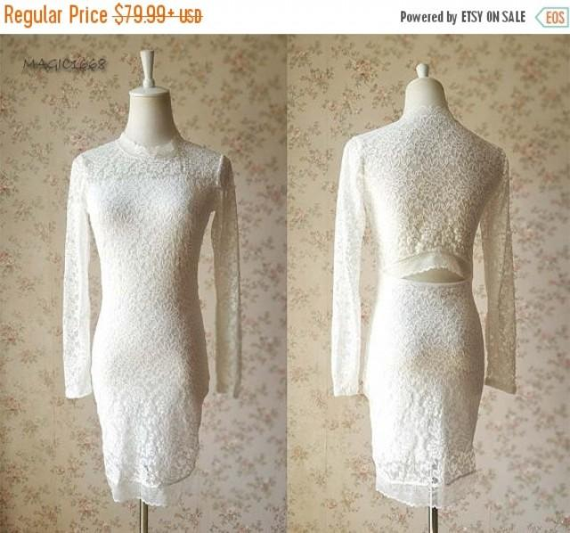 Chic Ivory White Bridesmaid Dress Ivory Lace Dresslong