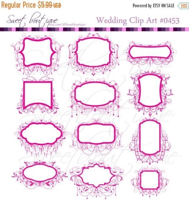 30%OFF SALE Wedding Clip Art Frames Chandelier Ornate Frame Digital ...