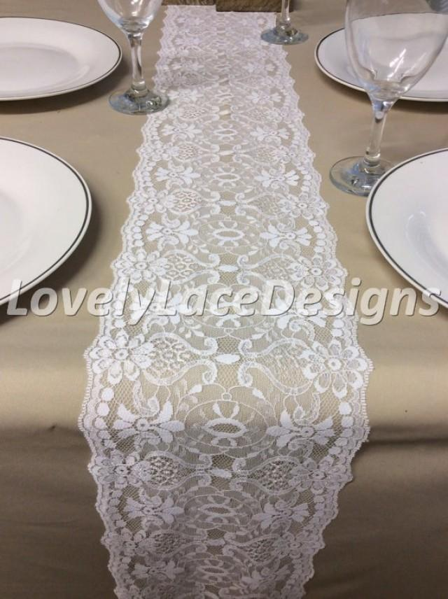 Wedding Decor White Lace Table Runner 5ft10ft X 75in Wide Rustic Weddings  Table Finds Weddings Weddbook
