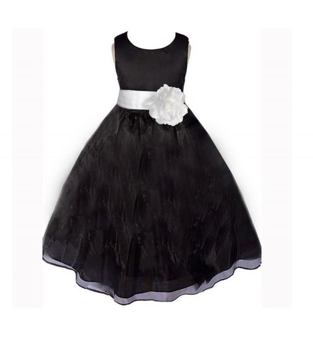 Black Flower Girl Dress Sash Pageant Organza Wedding Bridal Recital Children Bridesmaid Toddler Elegant Size 12 18m 2 4 6 8 10 12 2404578 Weddbook,Macy Dresses For Wedding