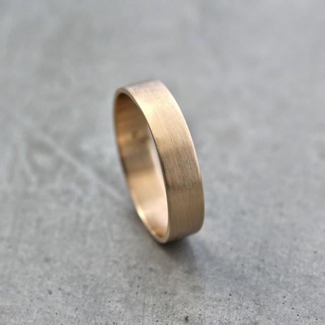 Flat Gold Wedding Rings