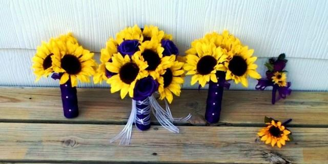 Purple And Sunflower Bouquet