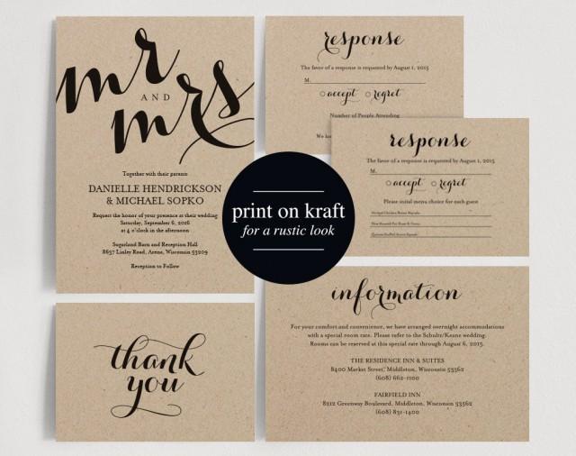 Wedding Invitations Free Templates Download: Wedding Invitation Printable Template