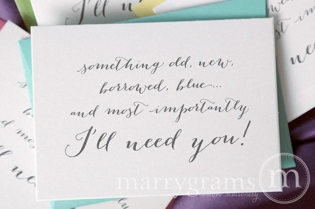 Will You Be My Bridesmaid Cards Something Borrowed, Blue