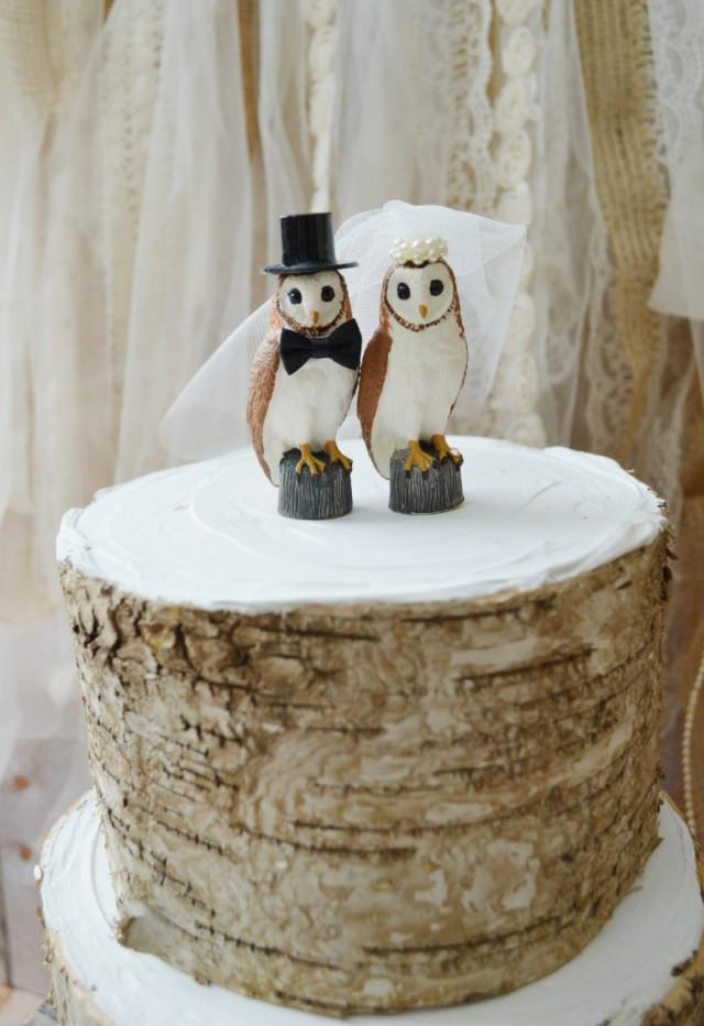 Owl Cake Toppers Wedding Cakes