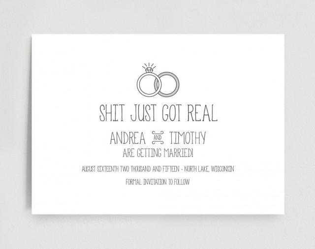 Funny Custom Printable Save The Date / Save-The-Date Shit