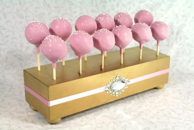 Decor Cake Holder : Gold Cake Pop Stand. Wedding Cake Pop Holder. Cake Pop ...