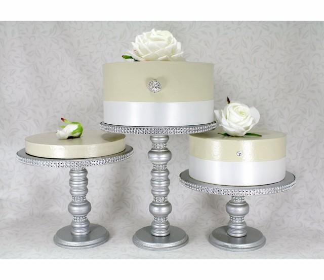 Rhinestone Cake Stand Wedding