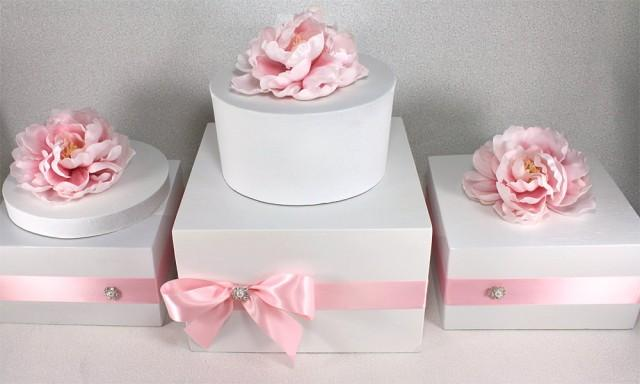 Any Color Wooden Wedding Cake Stand Box With Rhinestone