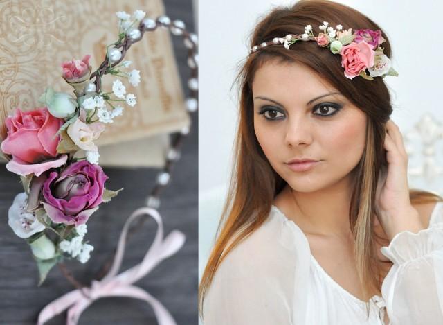 Flower Crown, Wedding Tiara, Wedding Accessories, Bridal Flowers ...