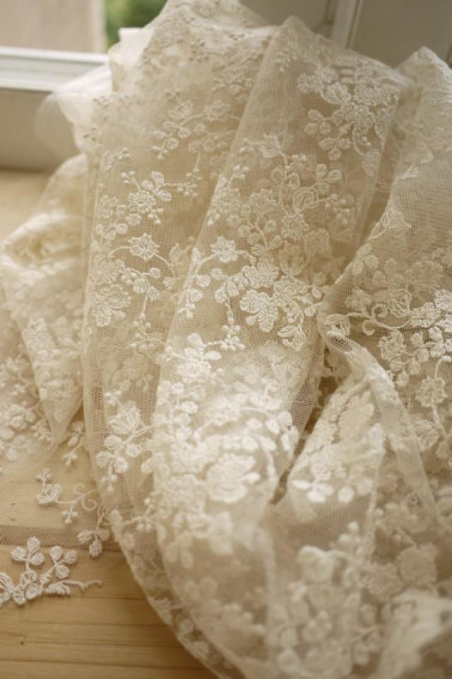 sale ivory lace fabric