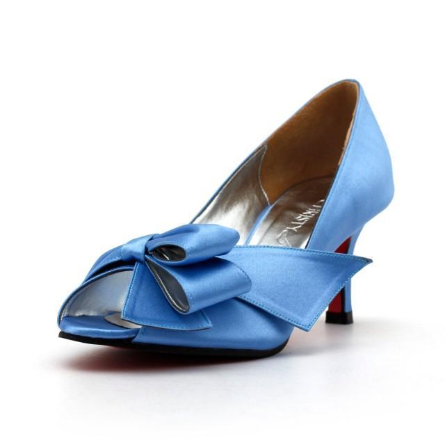 Something Blue Wedding Shoes, Something Blue Shoes, Victorian Blue Wedding  Heels, Custom Made Blue Heels, Blue Heels With Red Sole #2409434   Weddbook