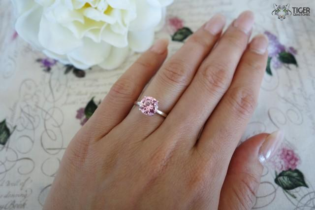 2 Carat Engagement Ring, Classic Solitaire Ring, Man Made ...